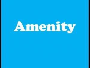 amenity